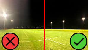 High quality rugby field lighting should be anti-glare