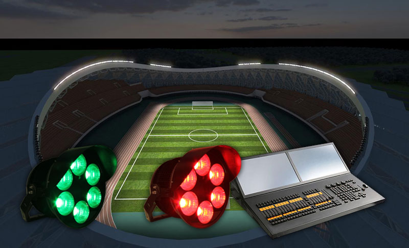 football stadium lights dmx control led outdoor