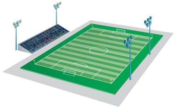 football field lights
